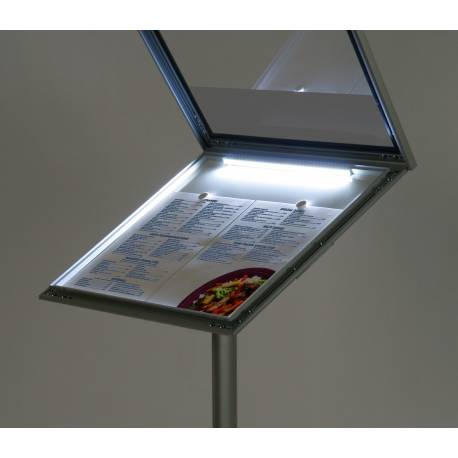 Porte menu LED 4801 - Porte visuels et porte messages de sol